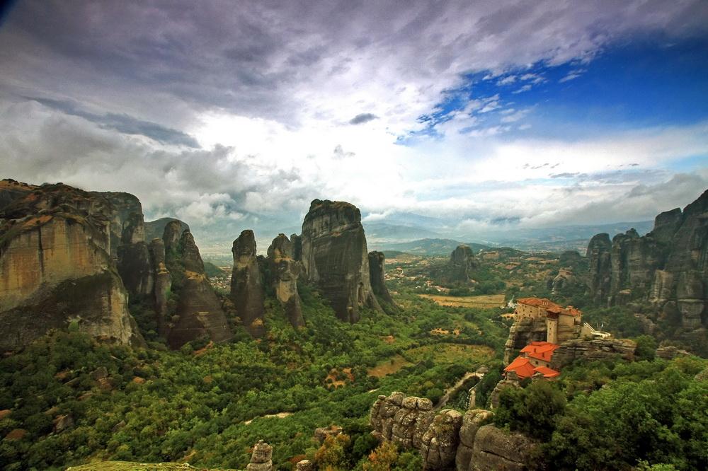"""фото """"Метиоры: Μονή Ρουσάνου"""" метки: пейзаж, путешествия, Европа, горы"""