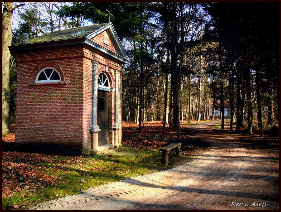 """фото """"forest chapel"""" метки: архитектура, пейзаж, лес"""