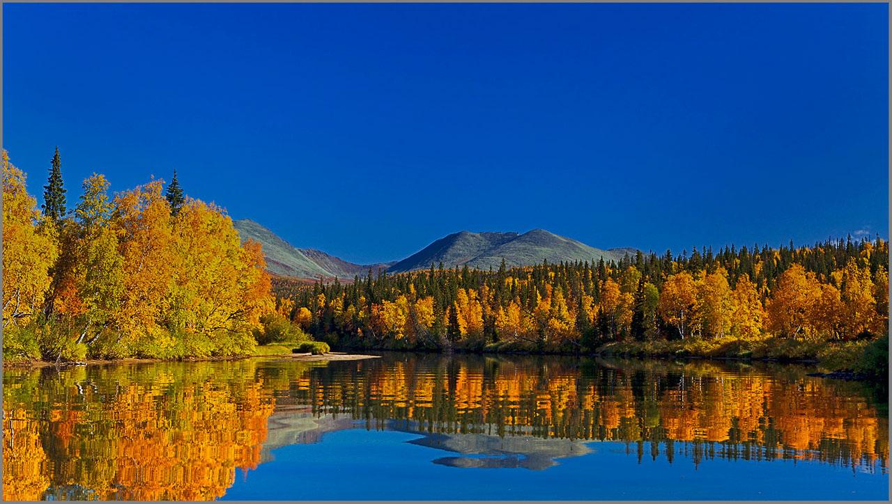 """фото """"Приполярный Урал.Осенние краски."""" метки: пейзаж, вода, горы"""