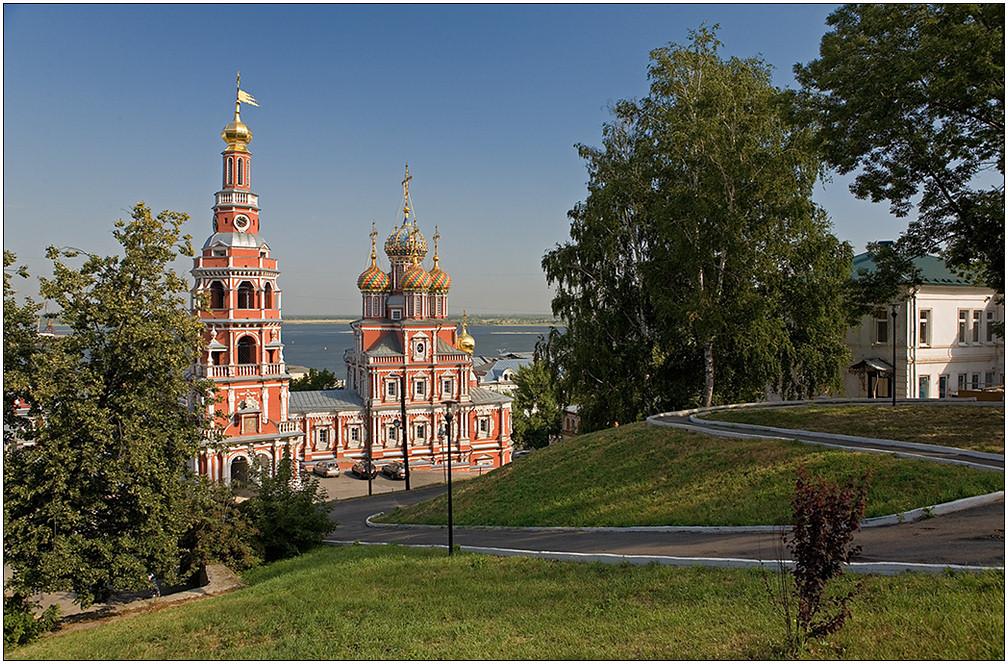 "photo ""Christmas (Stroganovskaia) church"" tags: architecture, travel, landscape, Europe"