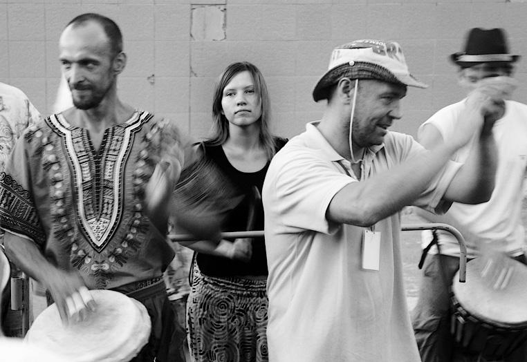 """фото """"Фестиваль барабанов"""" метки: жанр, черно-белые,"""