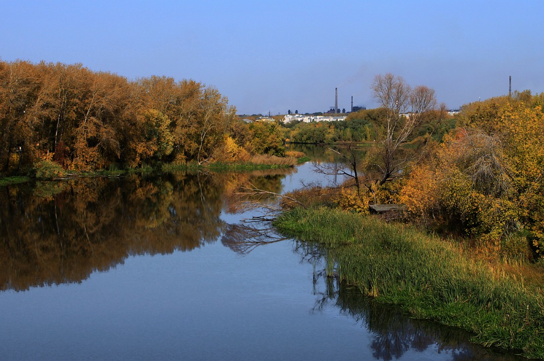 "photo ""River in the industrial city"" tags: city,"