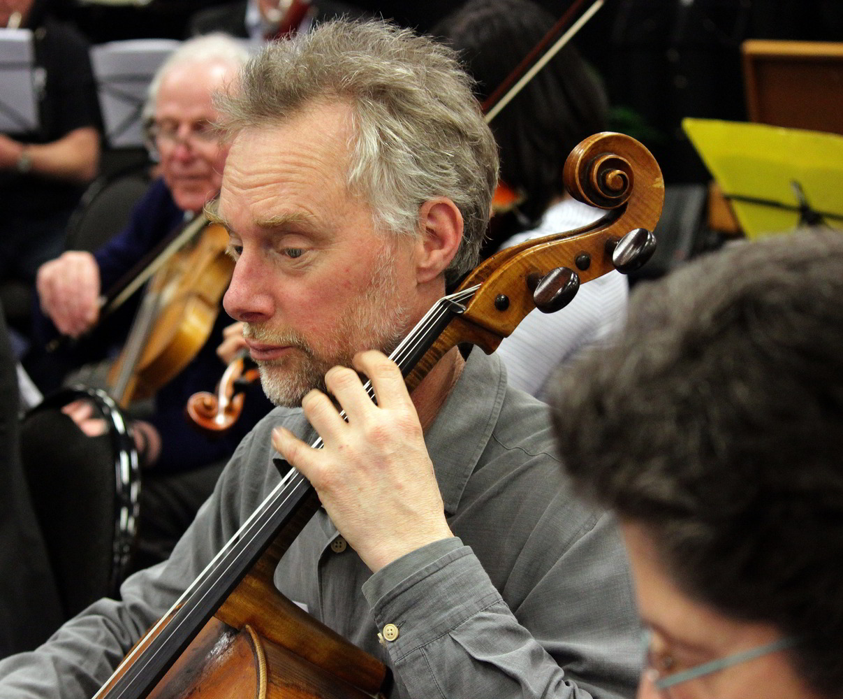 "photo ""The Cellist"" tags: portrait, reporting, man"