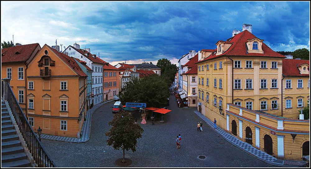 """фото """"Разноцветная Прага"""" метки: путешествия, панорама, Европа"""