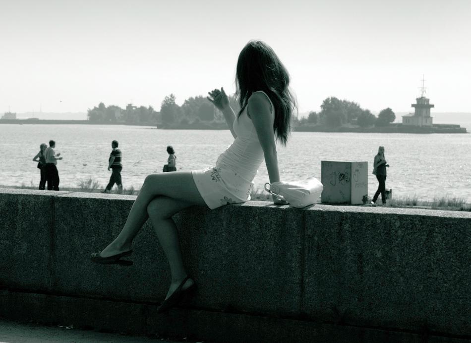 """фото """"Жена моряка"""" метки: пейзаж, жанр, вода"""