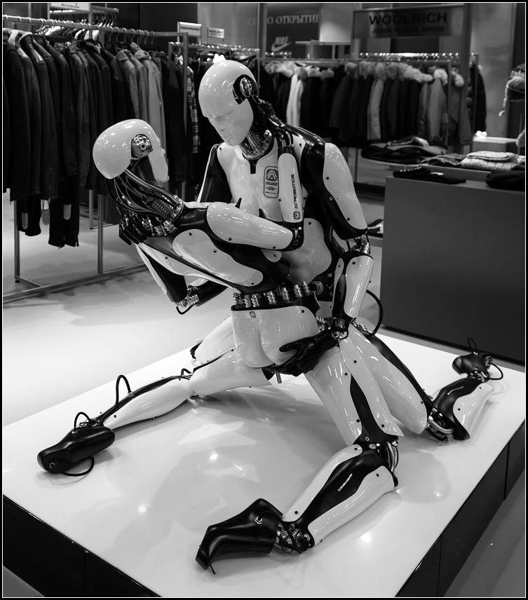 "photo ""Kamasutra for robots!)))"" tags: genre, black&white,"