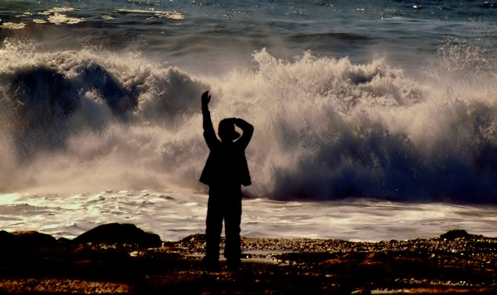 """photo """"""""The child and... the sea..."""""""" tags: portrait, children"""
