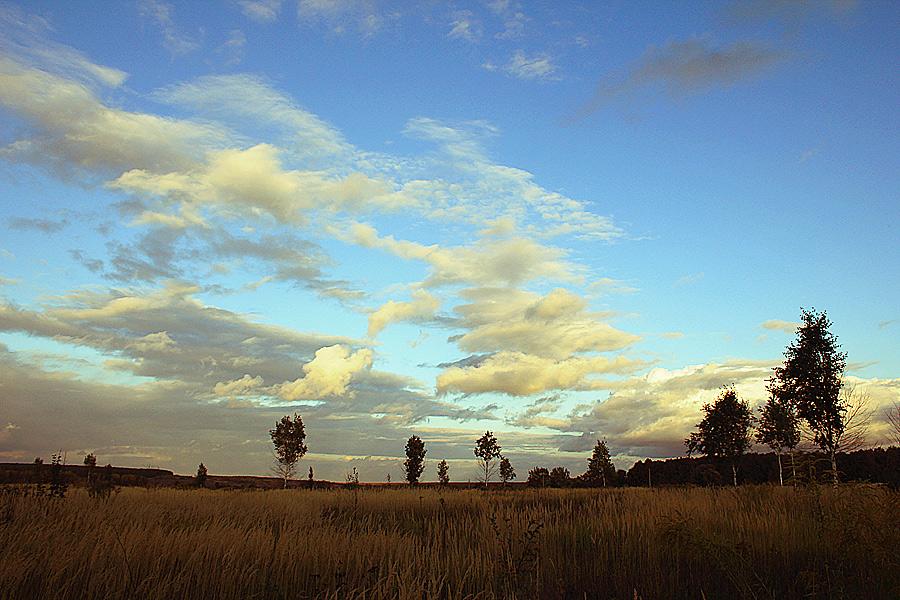 """фото """"* - * -  *"""" метки: пейзаж, облака, осень"""
