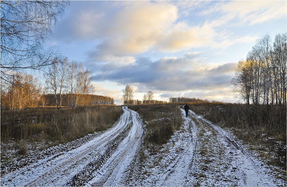 """фото """"Две дороги,два пути..."""" метки: пейзаж, жанр, осень"""
