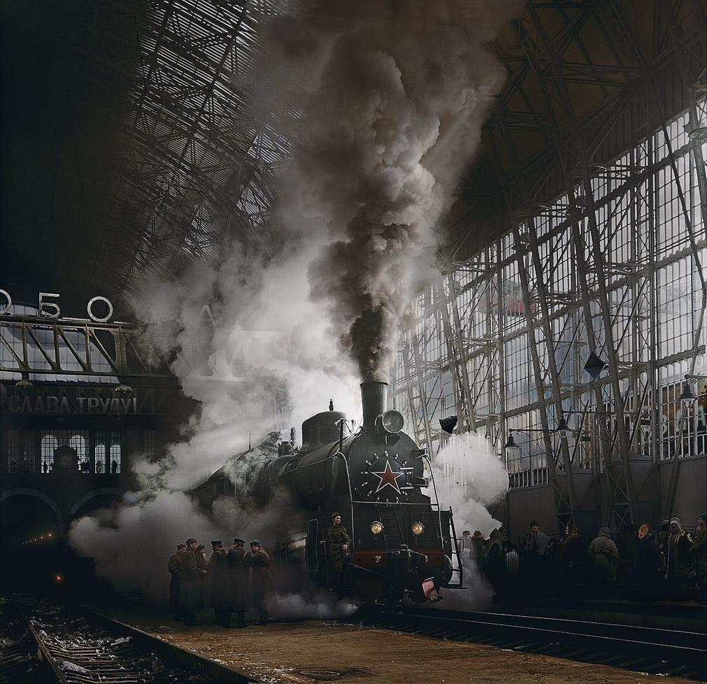 "фото ""Таганский вокзал ""Свобода""...."" метки: фотомонтаж, digital art,"