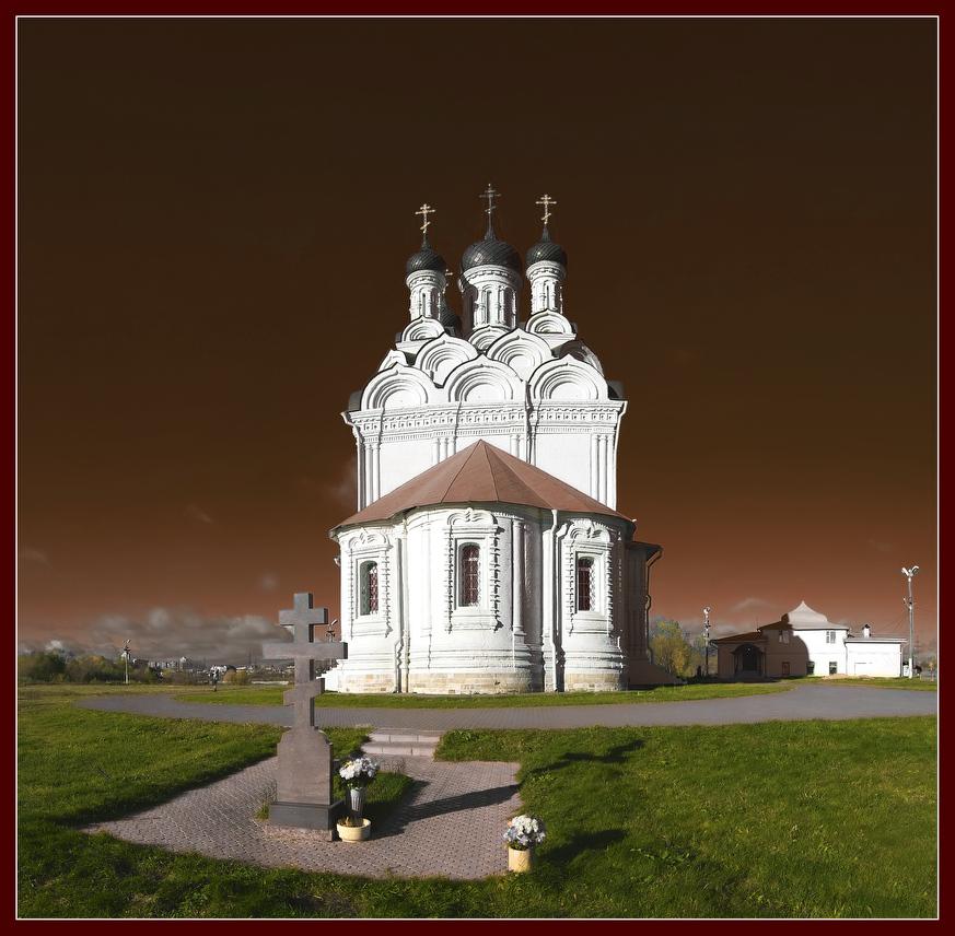 """фото """"храм Благовещения в Тайнинском"""" метки: архитектура, пейзаж,"""