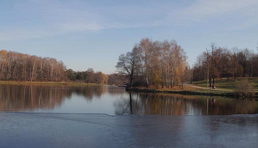 """фото """"Первый лёд."""" метки: пейзаж, вода, осень"""