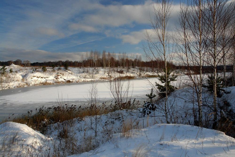 "фото ""Замерзшая речка."" метки: пейзаж, зима"