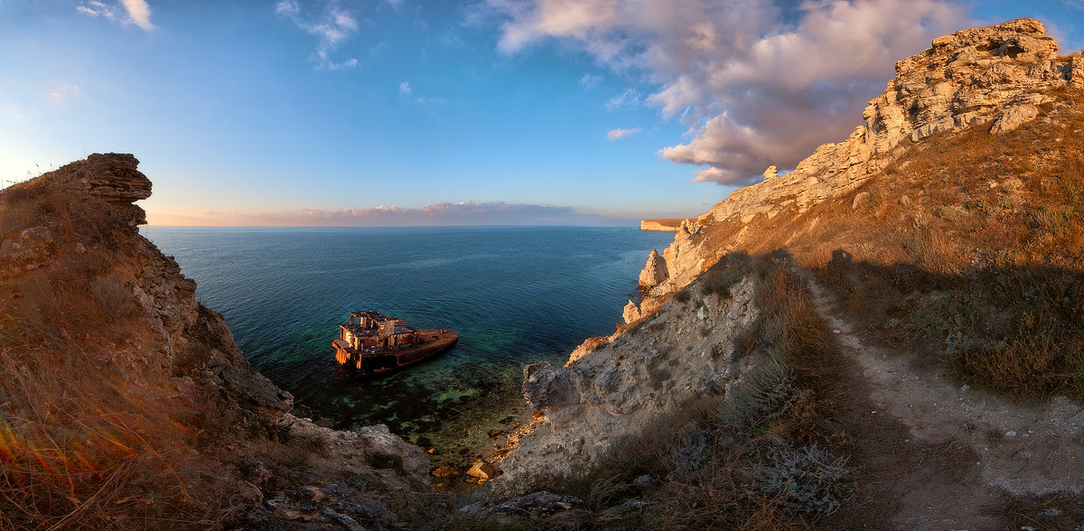 "фото ""В Бухте Джангуля"" метки: пейзаж, панорама, вода"