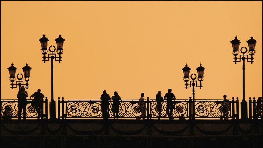 "фото ""Силуэты города..."" метки: город,"