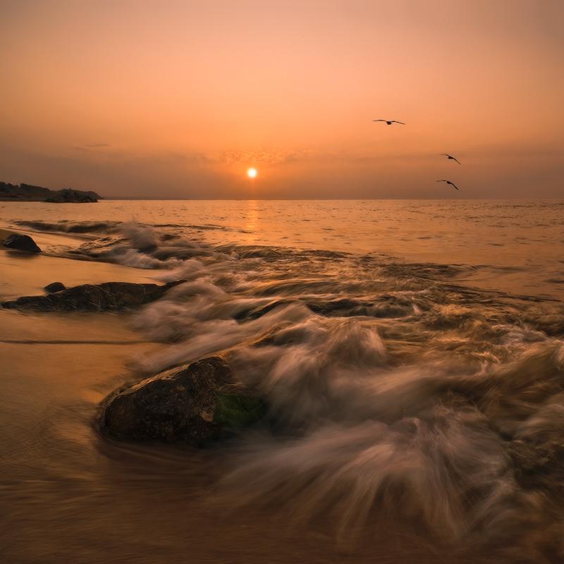 """фото """"Когда море просыпается-III"""" метки: пейзаж, закат"""