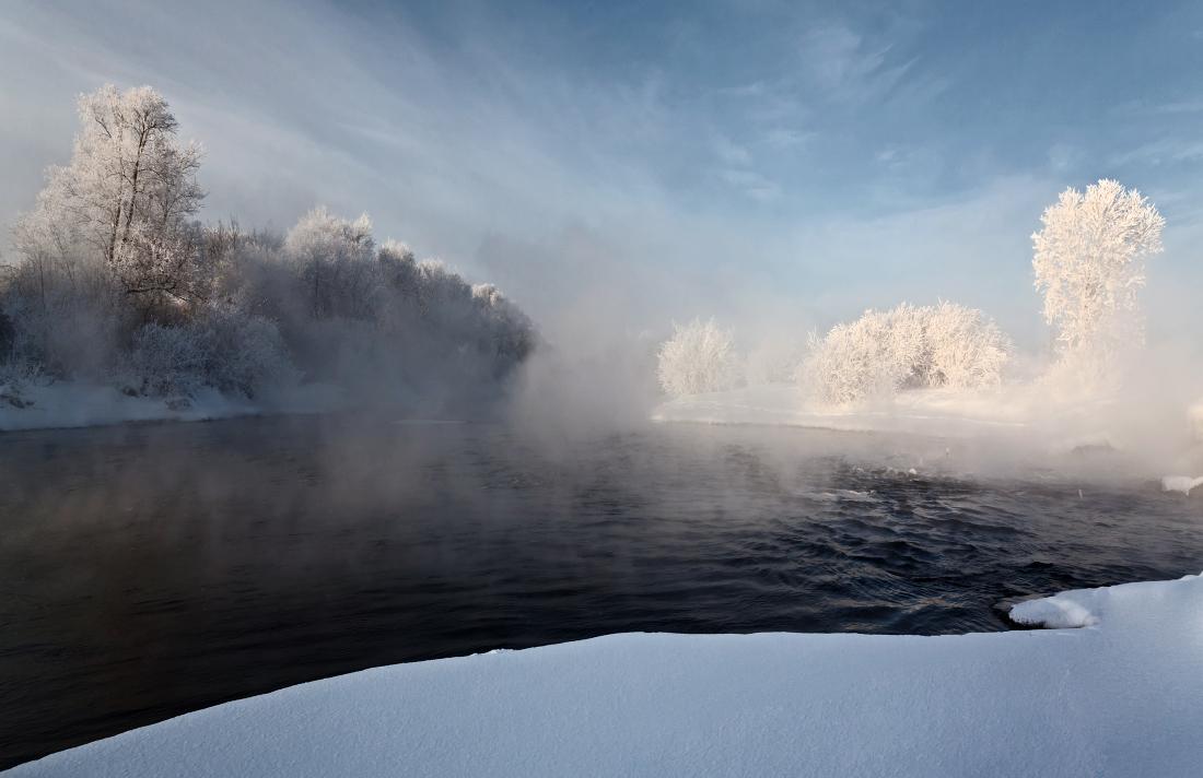 """фото """"Морозный туман"""" метки: пейзаж, зима"""