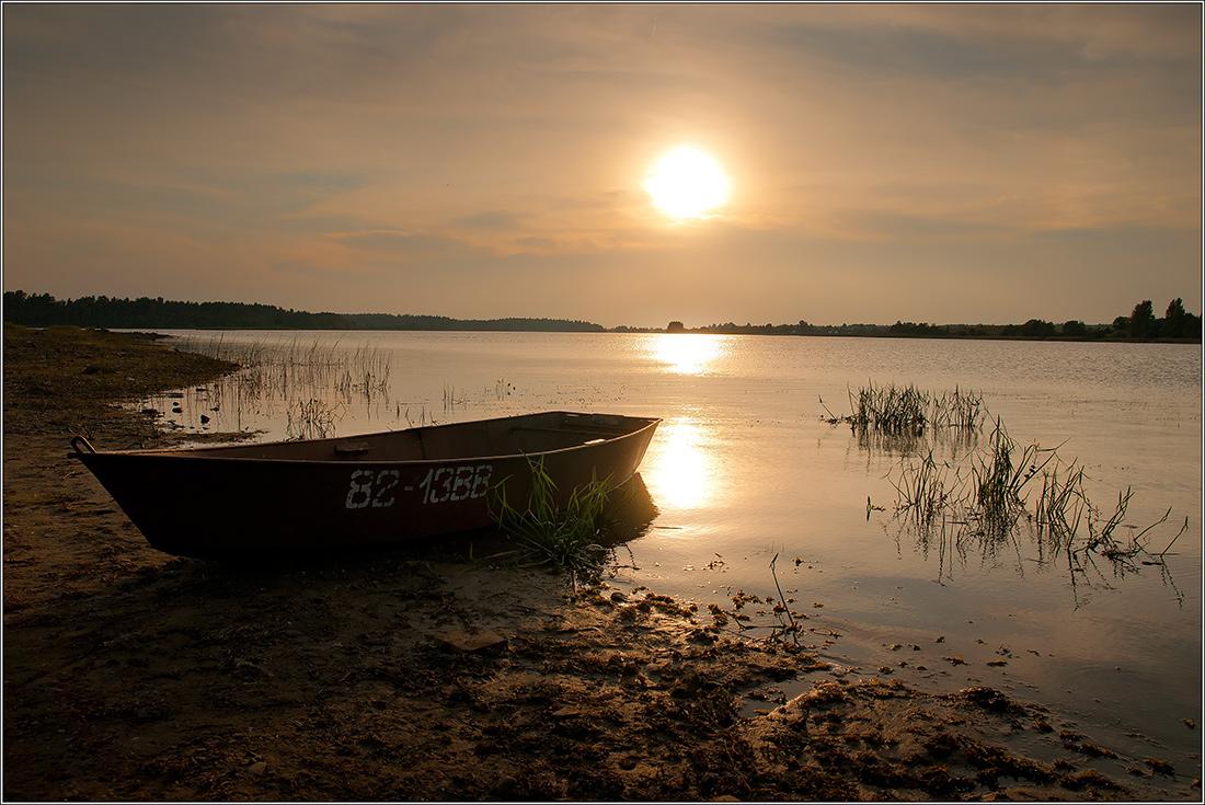 """фото """"Закат над Бородаевским озером"""" метки: ,"""