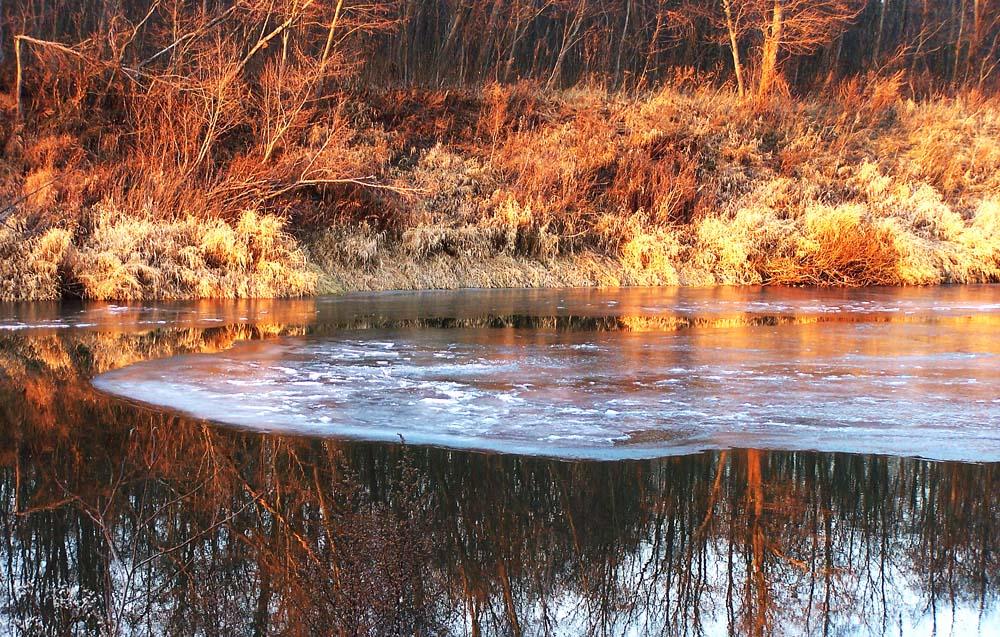 "фото ""Осенний закат."" метки: пейзаж, закат"