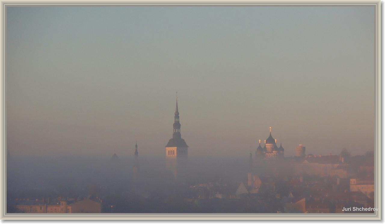 """фото """"Таллин в тумане"""" метки: архитектура, путешествия, пейзаж, Европа"""