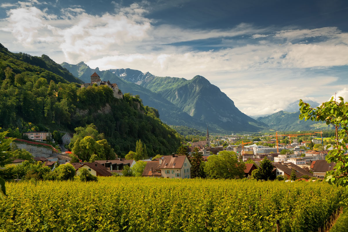 "фото ""Под небом Лихтенштейна"" метки: пейзаж, путешествия, Европа"