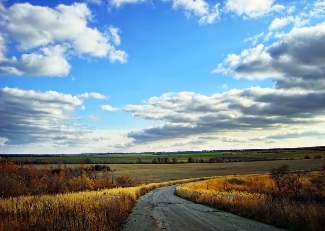 """фото """"..дороги земные и небесные.."""" метки: пейзаж, осень"""