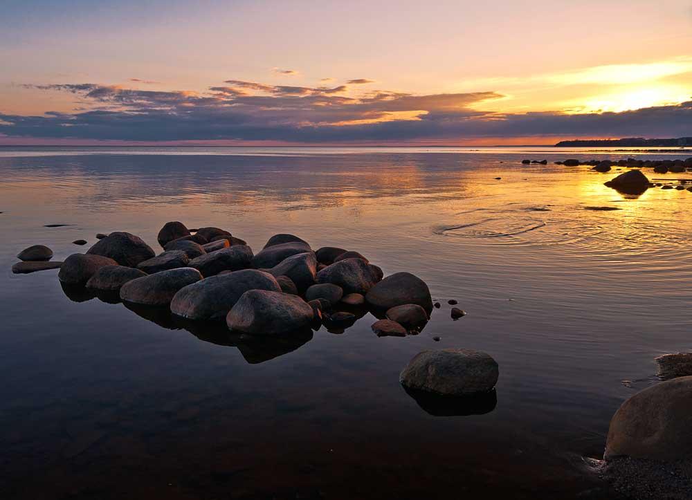 "фото ""Закат на Финском заливе"" метки: пейзаж, вода, закат"