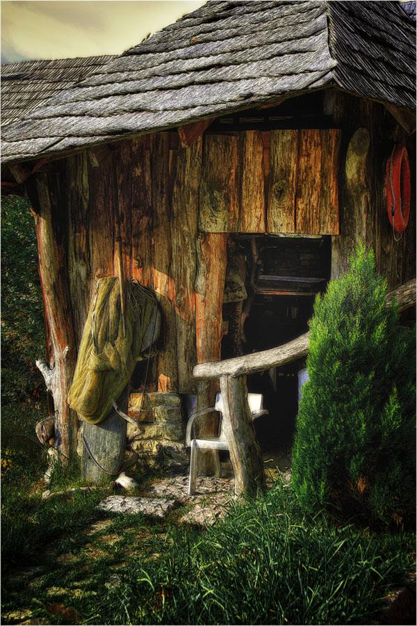 "фото ""Заимка рыбака"" метки: пейзаж, природа, осень"