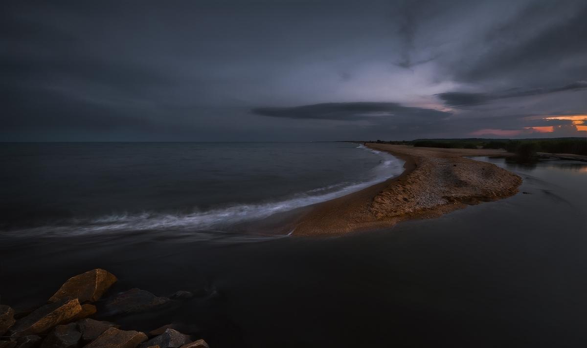 """фото """"Там где Берда впадает в Азов-II"""" метки: пейзаж, закат"""