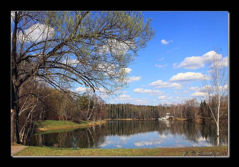 "фото ""Весенний пейзаж с озером."" метки: пейзаж, весна, вода"