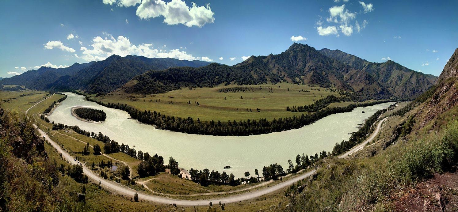 "фото ""Улыбка Катуни"" метки: пейзаж, панорама, горы"