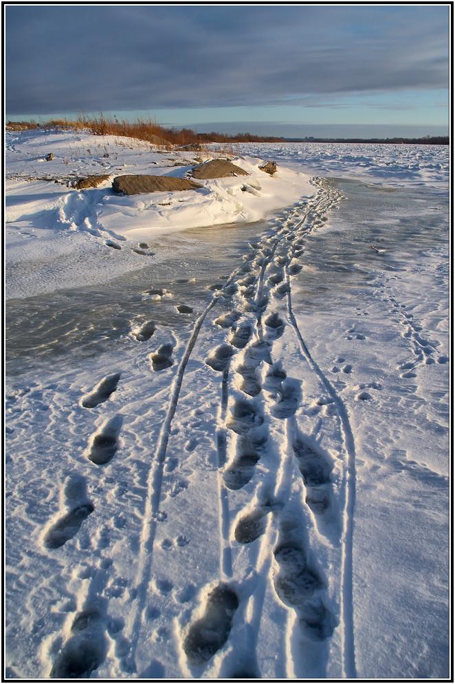 "фото ""Рыбацкими тропами"" метки: пейзаж, вода, зима"