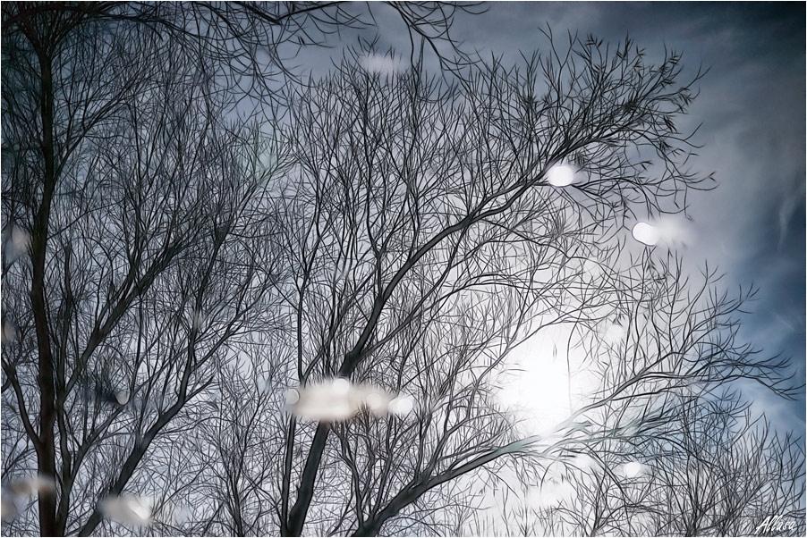 """фото """"В последний раз слезой туманною блеснув, уходит осень..."""" метки: абстракция, digital art,"""