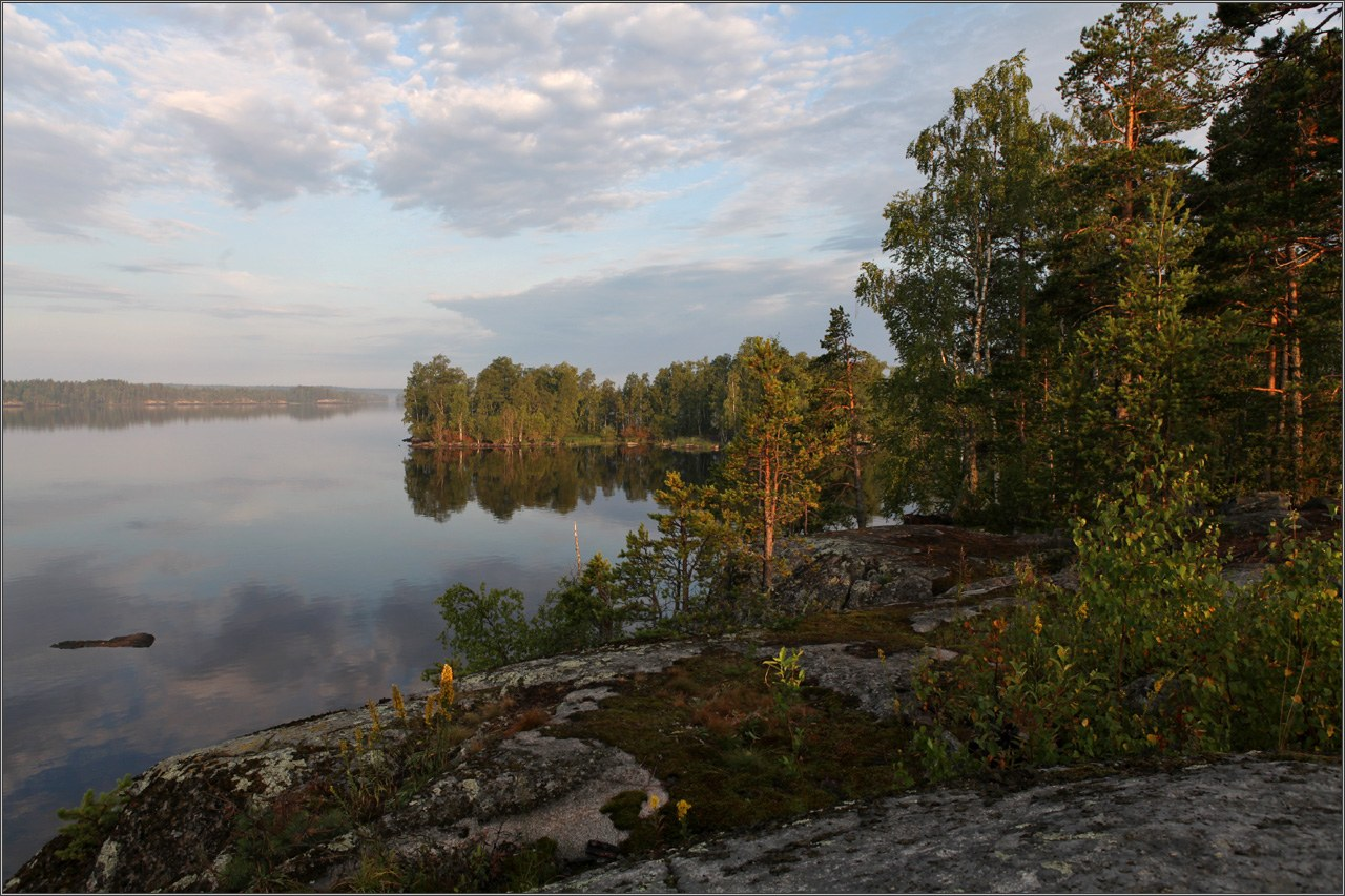 "фото ""Ладога"" метки: пейзаж, вода, закат"