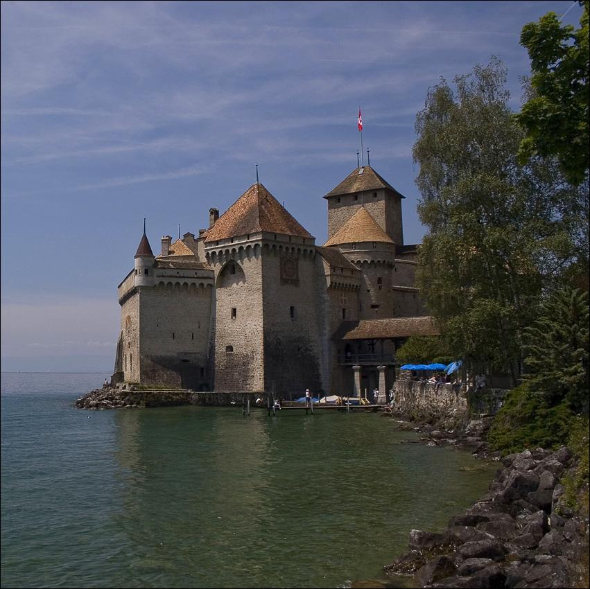 "фото ""Шильонский замок"" метки: архитектура, путешествия, пейзаж, Европа"