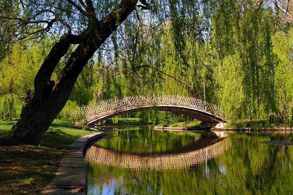 "фото ""Agreement spring"" метки: пейзаж, Бухарест, весна, мост, озеро, парк"