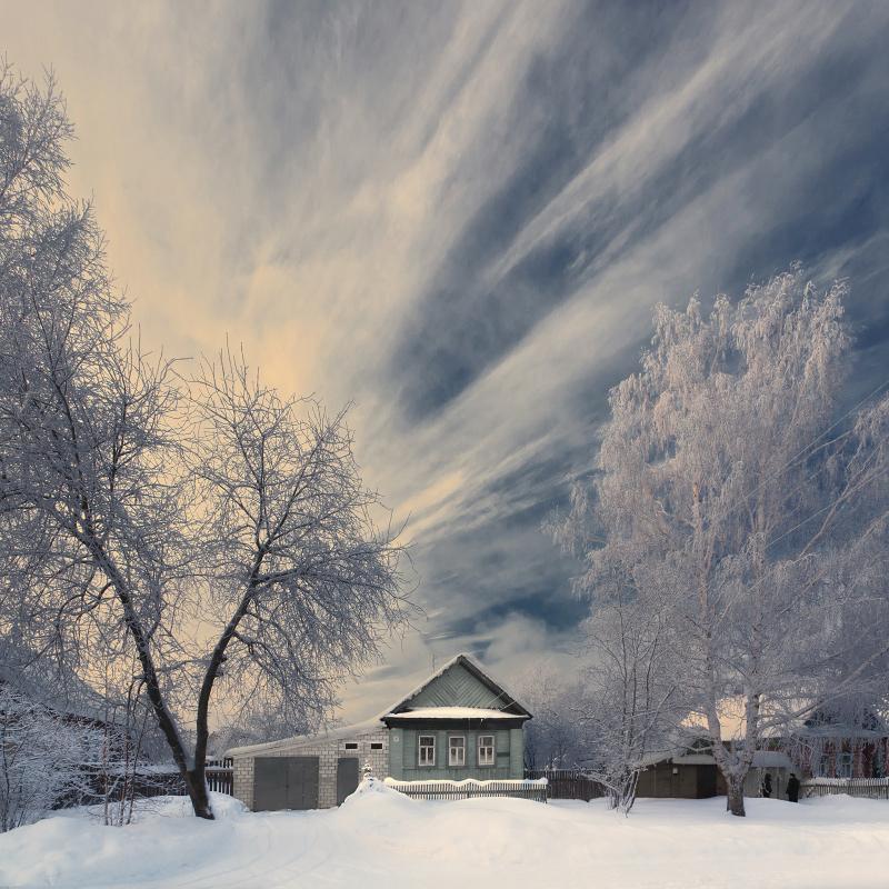 """фото """"Веер зимних облаков"""" метки: пейзаж, зима, облака"""