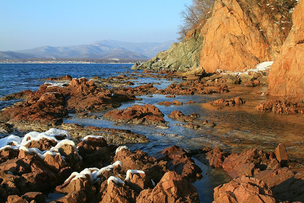 """фото """"Скалистая отмель"""" метки: пейзаж, вода"""