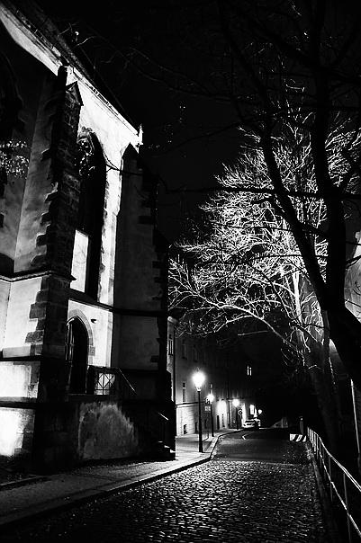 """фото """"Ночной улочка-12"""" метки: черно-белые,"""