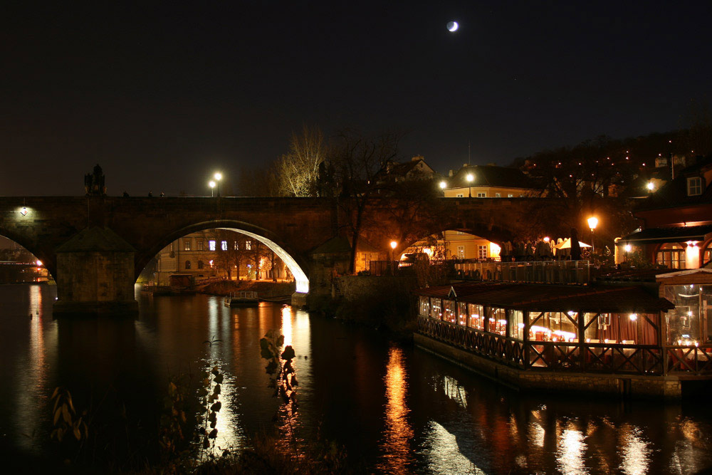 """фото """"Карлов мост"""" метки: пейзаж, вода, ночь"""