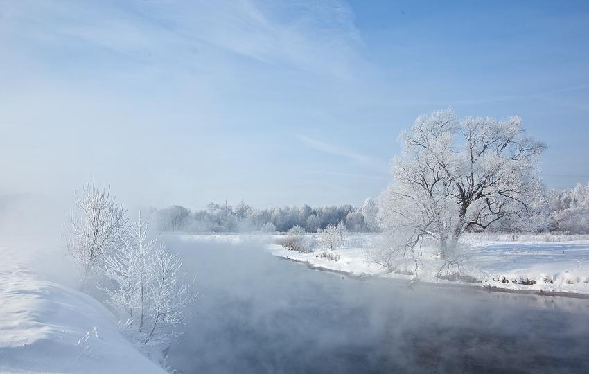 """фото """"Голубая нежность"""" метки: пейзаж, зима"""