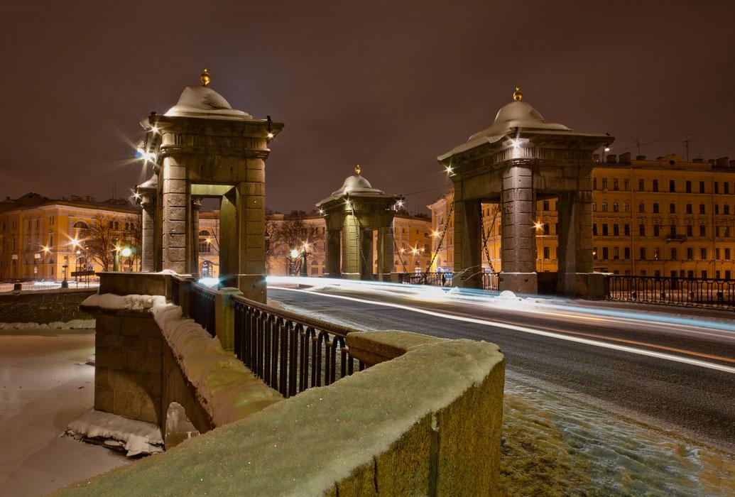 "фото ""Питер. Мост Ломоносова"" метки: архитектура, пейзаж, зима"