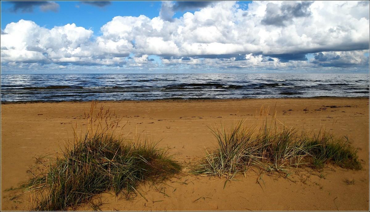 """фото """"Sand and water"""" метки: пейзаж, вода, облака"""