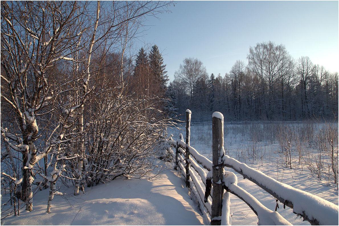 """фото """"Утро"""" метки: пейзаж, природа, зима"""