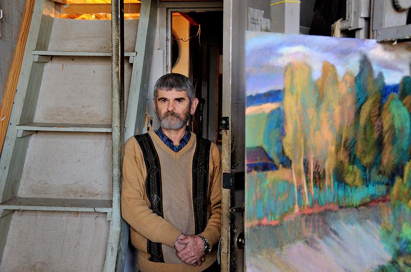 """фото """"В.Луневский, художник. 2011г."""" метки: портрет,"""