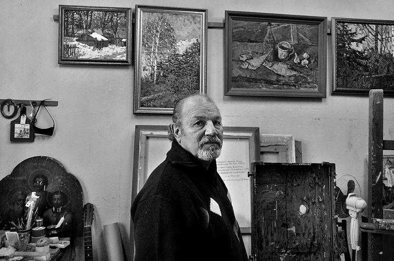"""фото """"Е.Воскобойников, художник. 2011г."""" метки: портрет,"""
