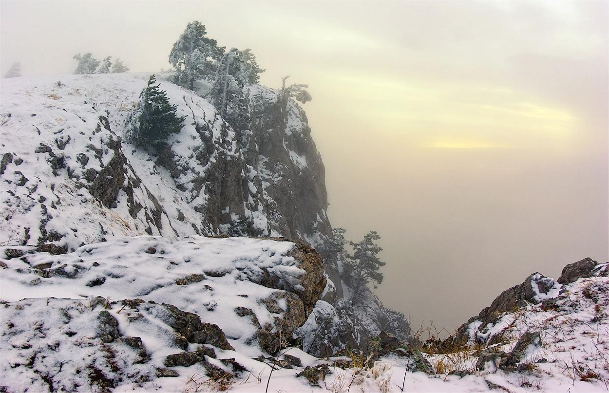 """фото """"В снегах Ай-Петри"""" метки: пейзаж, горы, зима"""