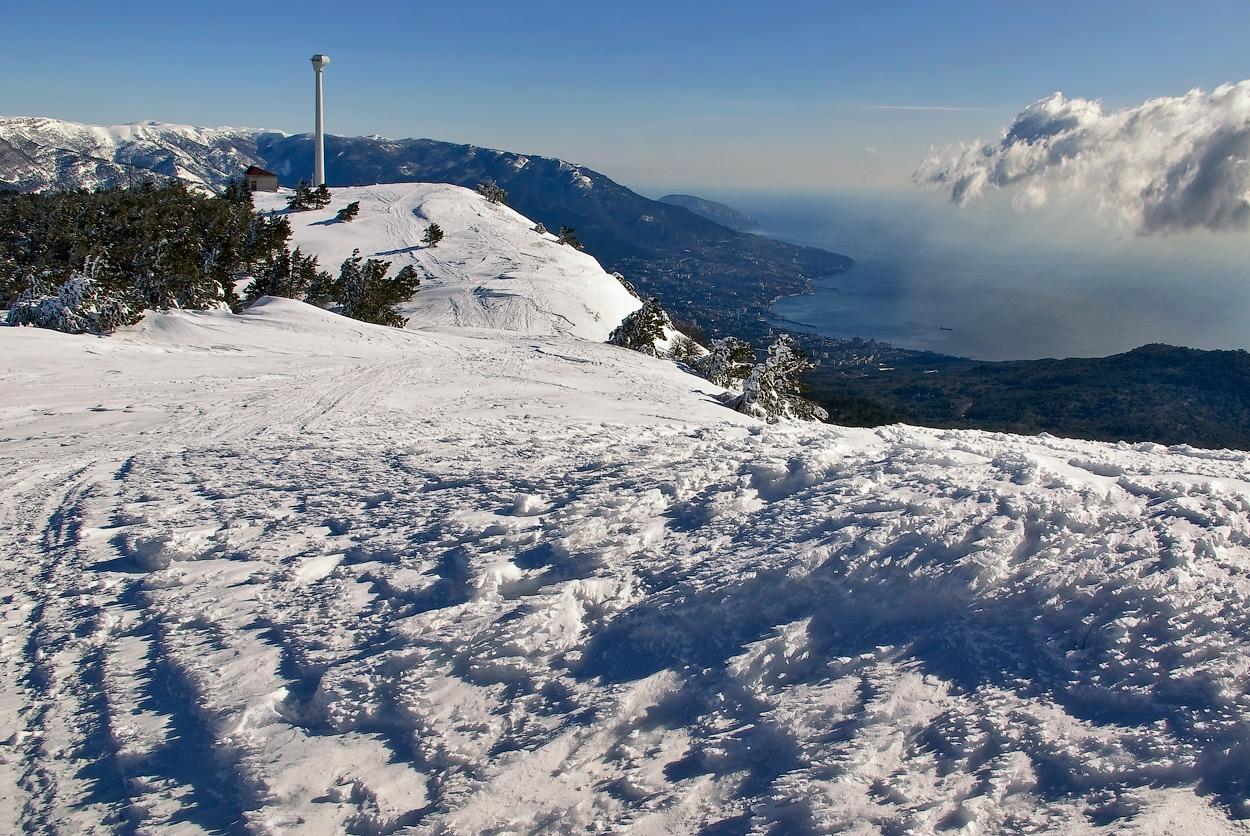 """фото """"Эта снежная зимняя даль..."""" метки: пейзаж, горы, зима"""