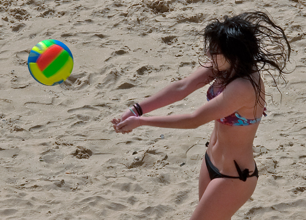 "photo ""Beach Time"" tags: portrait, sport, woman"