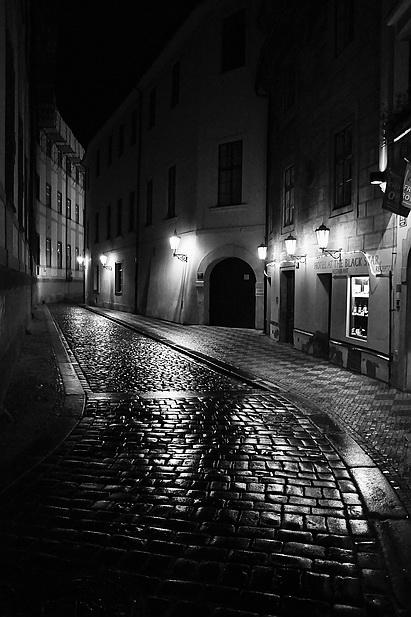 """фото """"Ночной улочка-16"""" метки: черно-белые,"""